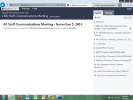 CAIU Communications Meeting November 05, 2014