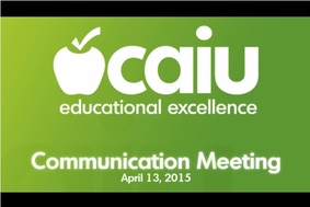 CAIU Communication Meeting - April 14,2015