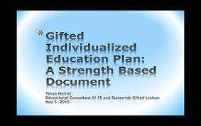 GIEP A Strength Based Document - Educator Version