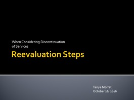 Reevaluation Steps
